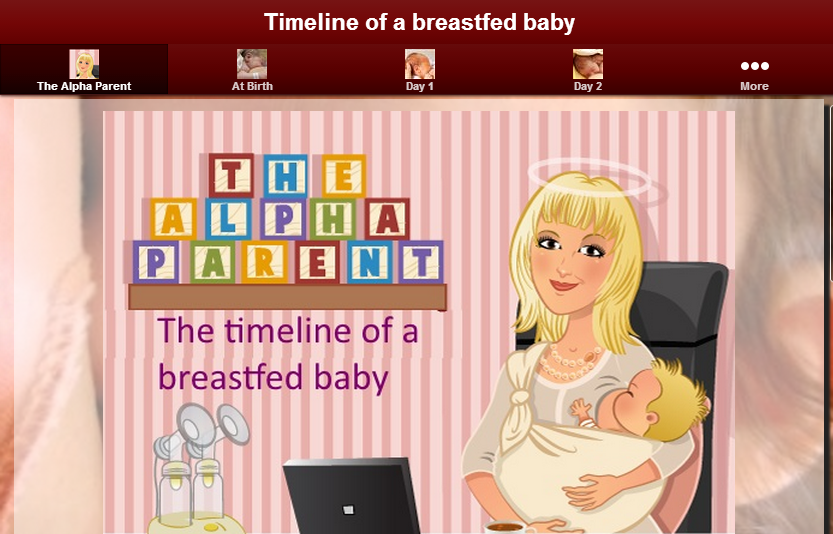 Timeline of a breastfed baby- screenshot