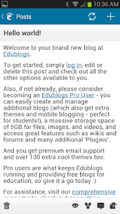 Edublogs - screenshot thumbnail