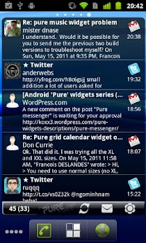 Pure messenger widget