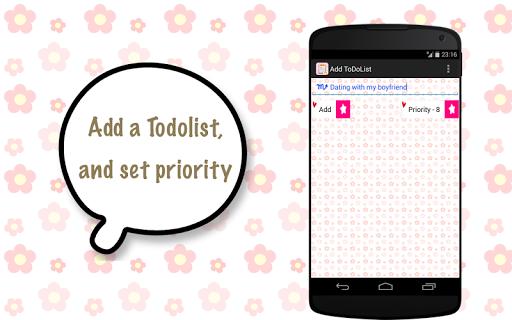 ToDo List Task List for girl
