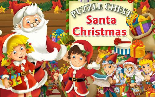 Santa Christmas Puzzle Chest