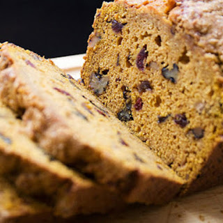 Pumpkin Walnut Cranberry Quickbread