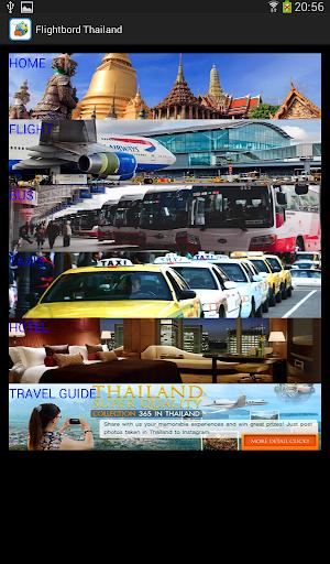 Flightbord Thailand