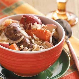 Sausage Sauerkraut Supper.