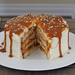 Dulce de Leche Vanilla Cake.