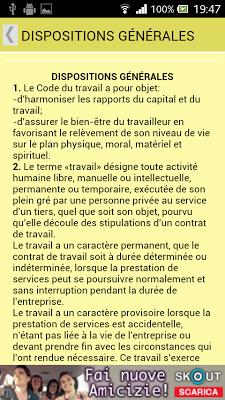 Code du travail de Haïti - screenshot
