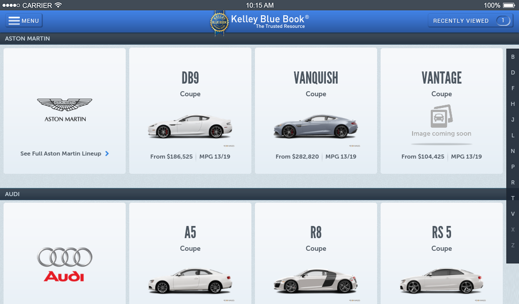 KBB.com Car Prices & Reviews- screenshot