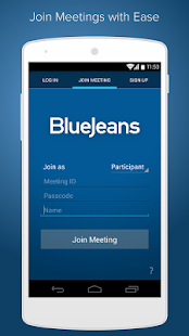 Blue Jeans for Android - screenshot thumbnail