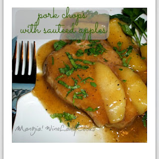 Pork Chops with Sauteed Apples.