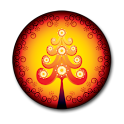 Xmas Orange Tree Clock icon