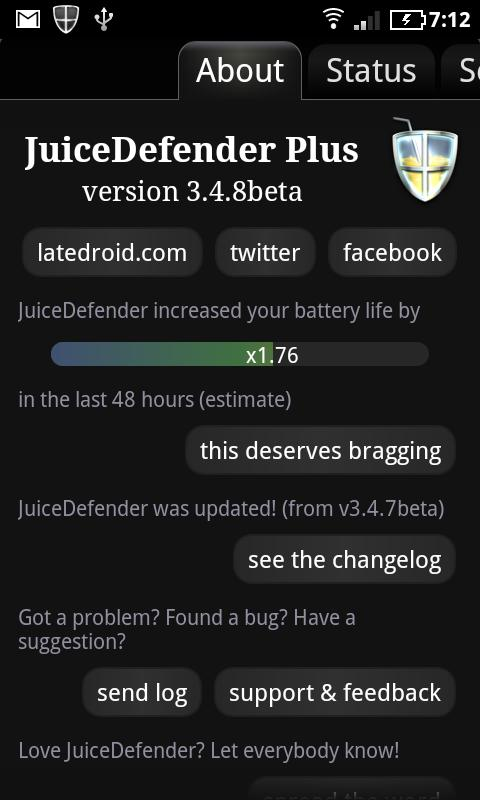 JuiceDefender Plus- screenshot