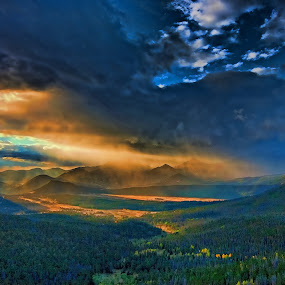 by Todd Yoder - Landscapes Mountains & Hills ( hills, clouds colorful, mountains, sunrise )