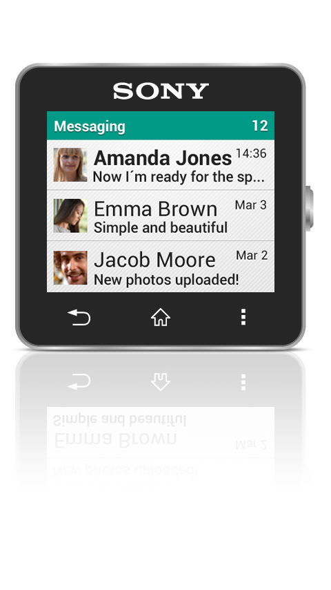 Messaging smart extension- screenshot