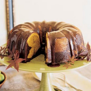 Chocolate-Pumpkin Marble Cake.