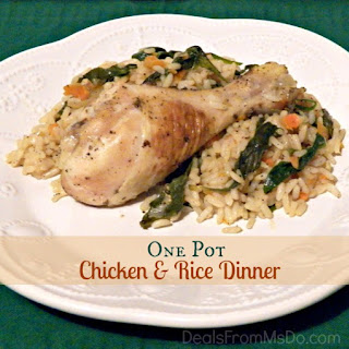 One Pot Chicken and Rice Dinner.