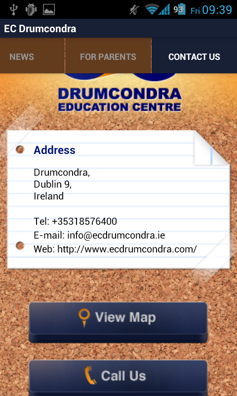 Drumcondra Education Centre- screenshot