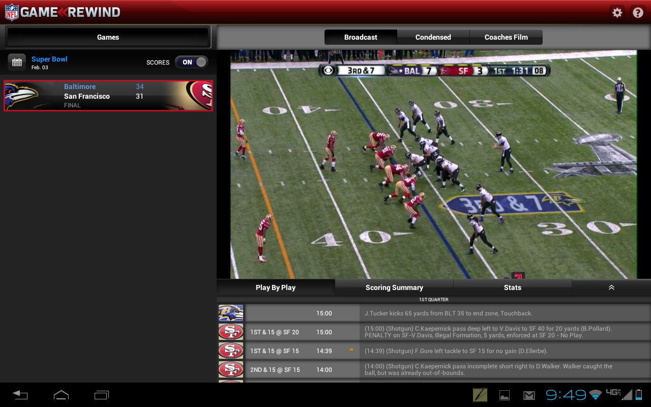 NFL Game Rewind - screenshot