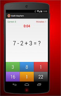 Math Mayhem - screenshot thumbnail
