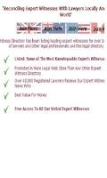 Screenshot of Expert Witness Directory