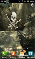 3D Flag Pirate Ship (PRO)
