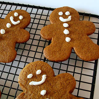 Thick and Chewy Gingerbread Cookies.
