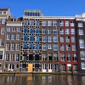 Amsterdam Strip by Jamie Tambor - Instagram & Mobile iPhone ( houses, boat tour, amsterdam, boat, canal,  )