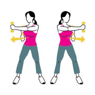 手臂鍛煉的女性