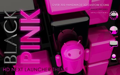 Next Launcher Theme Pink Magic