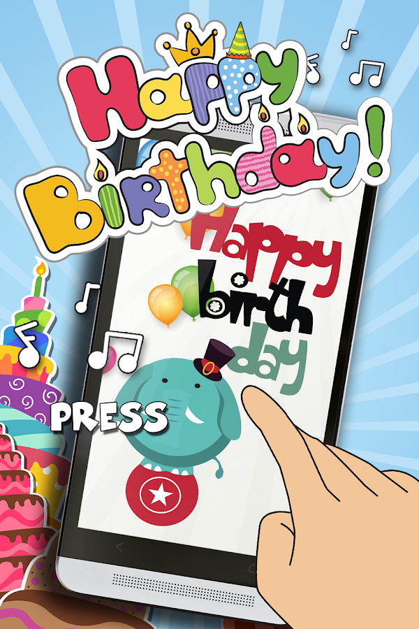 happy birthday sound cards  android apps on google play, Birthday card