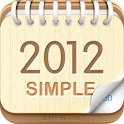 탁상달력 2012 : 심플 (위젯) icon