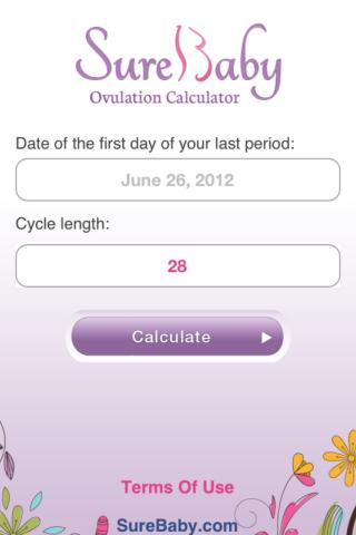 Ovulation Calculator: SureBaby - screenshot