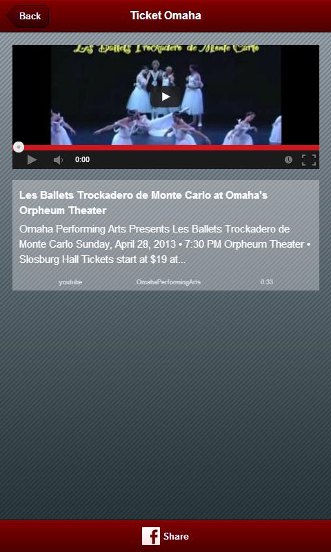 Ticket Omaha - screenshot