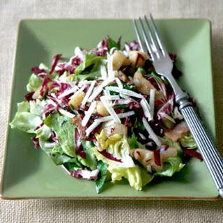 Warm Salad with Jerusalem Artichokes, Bacon, and Radicchio Recipe
