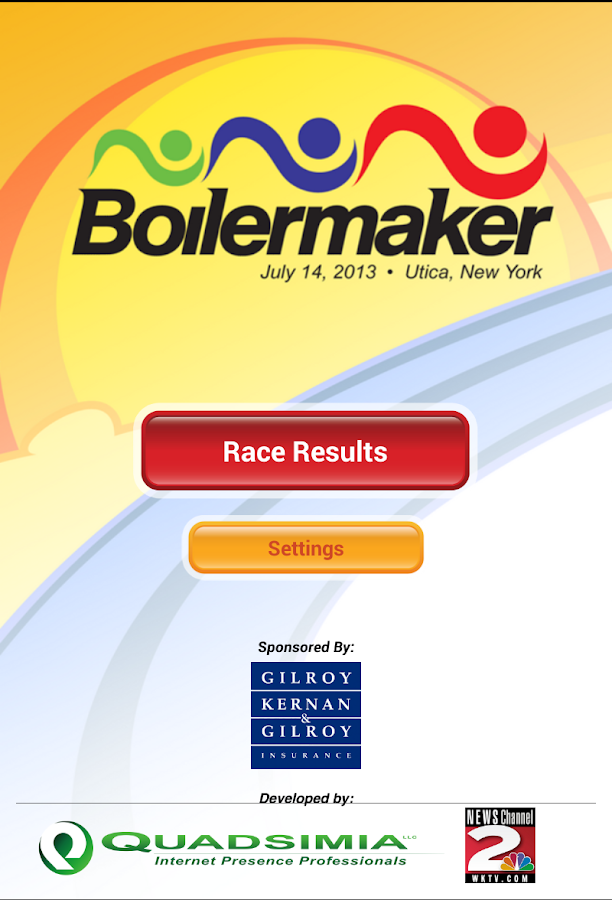 Boilermaker Results - screenshot