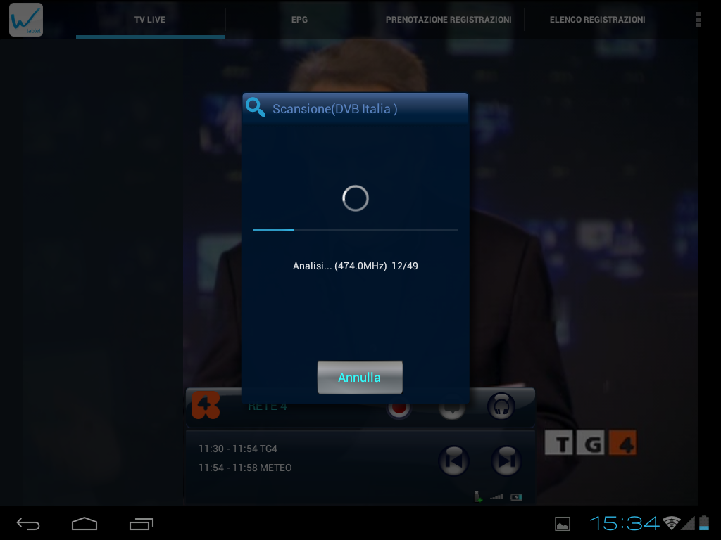 Wi.TV per tablet- screenshot