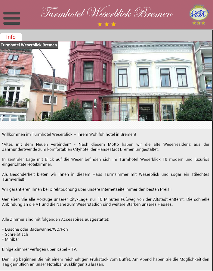 Turmhotel Weserblick Bremen- screenshot