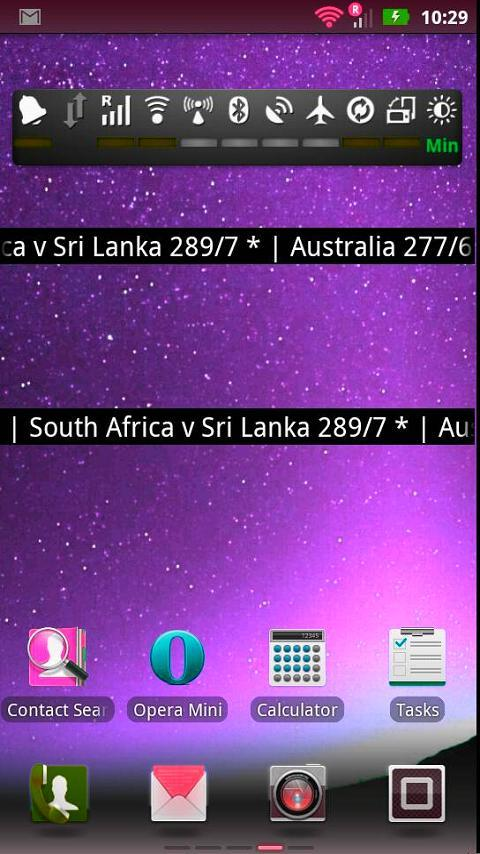 Live Cricket Score Widget - screenshot