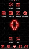 Screenshot of Neon Red GO Launcher Theme