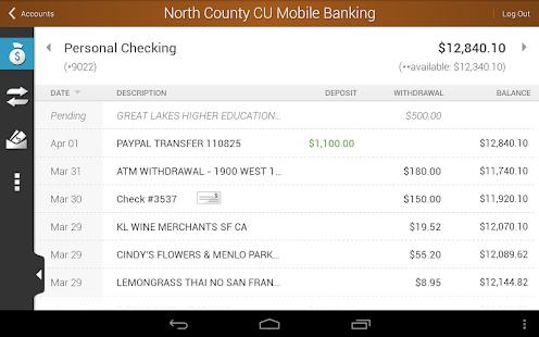North County CU Mobile Banking - screenshot thumbnail