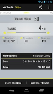 Runtastic Sit-ups & Abs PRO- screenshot thumbnail