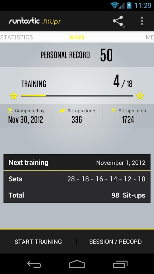 Runtastic Sit-ups & Abs PRO- screenshot