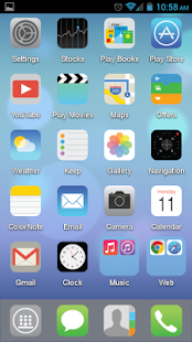 Pure iOS 7 Flat Apex Nova