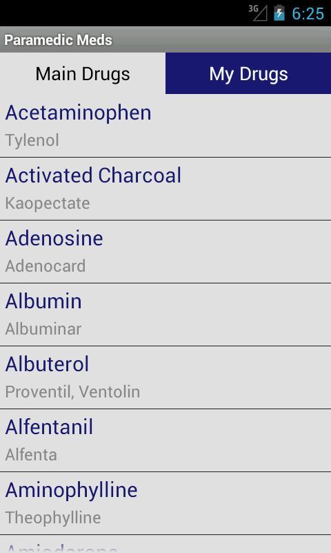 Paramedic Meds- screenshot