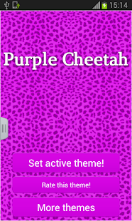 Keypad Purple Cheetah - screenshot thumbnail