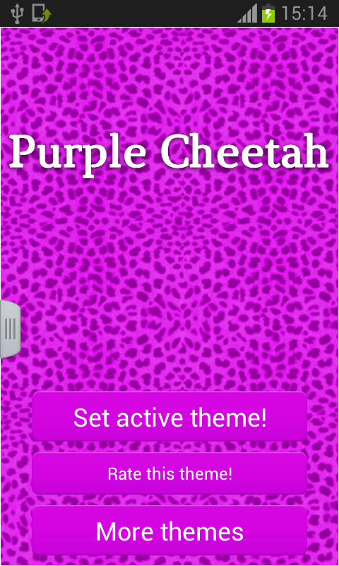Keypad Purple Cheetah - screenshot