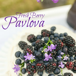 Blueberry and Blackberry Pavlova Recipe, Gluten Free Dessert