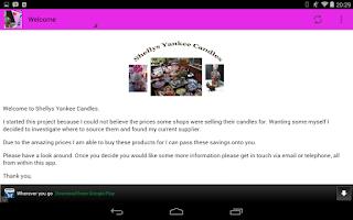 Screenshot of Shellys Yankee Candles