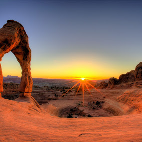 Delicate Sun by Ryan Smith - Landscapes Sunsets & Sunrises