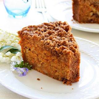 Richly Satisfying Carrot Crumb Cake
