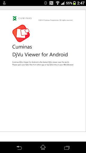 Cuminas DjVu Viewer